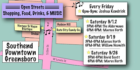 Southend Downtown Greensboro - MUSIC, FOOD, DRINKS & SHOPPING tickets