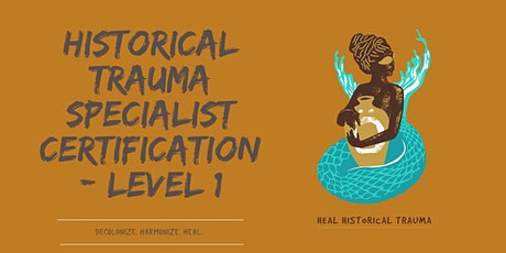 Historical Trauma Specialist Certification- Level 1 tickets