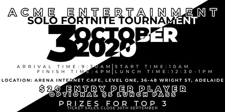 ACME Entertainment Fortnite Tournament tickets