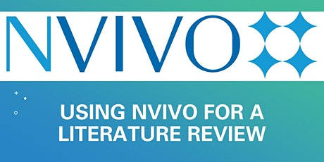 Using NVivo for a Literature Review - Oct tickets