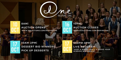Inspire One's Online Dessert & More Auction, followed by Live Program tickets