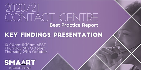 2020/21 Contact Centre Best Practice Report - Key Findings Presentation tickets