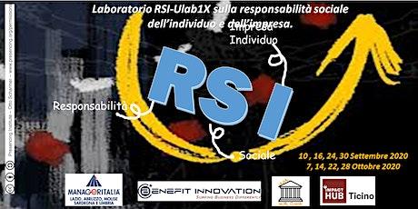 Laboratorio RSI-Ulab1X di responsabilità sociale per individuo/impresa. biglietti
