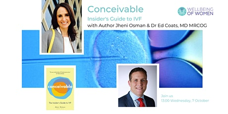 'Conceivable' with author Jheni Osman and Dr Ed Coats tickets