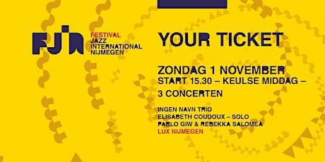 Dag 4 FJIN 2020 • GECANCELD Ingen Navn Trio • Elisabeth Coudoux • Giw & Sal tickets