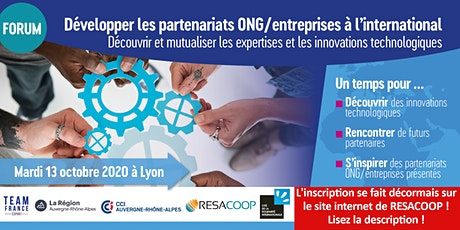 Forum-Développer les partenariats ONG-Entreprises à l'international tickets