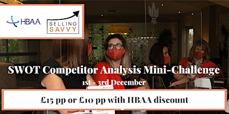 Event & Hospitality Professionals: SWOT Competitor Analysis Mini-Challenge tickets
