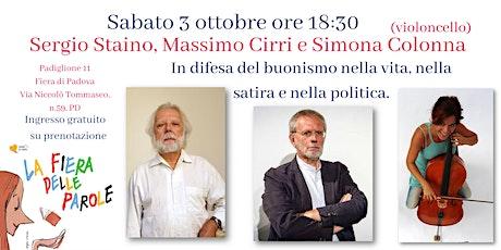 Sergio Staino, Massimo Cirri e Simona Colonna (violoncello) biglietti