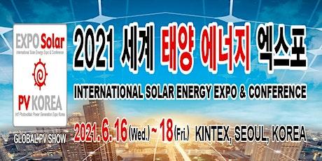 EXPO Solar 2021 / PV KOREA tickets
