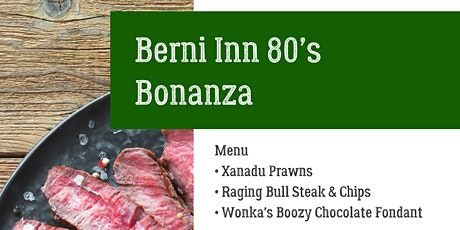 Zoom Cook-Along : The Berni Inn 1980's Bonanza tickets