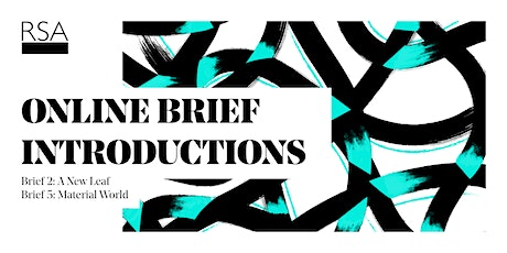 2020-21 RSA Student Design Awards Brief 2 & 5 Introduction tickets