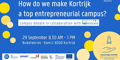 Campus Debat: Hoe maken we Kortrijk tot een top ondernemende campus? tickets