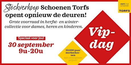VIPDAG Stockverkoop Schoenen Torfs tickets