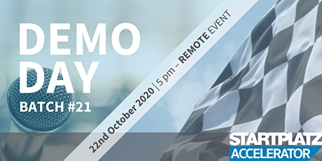STARTPLATZ Accelerator - VIRTUAL Demo Day Batch #21 tickets