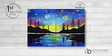 Sip & Paint Date Night : STARRY LAKE tickets