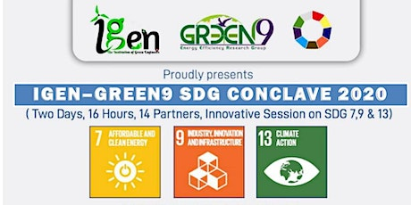 IGEN-GREEN9 SDG CONCLAVE 2020 tickets