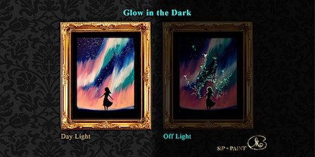 Sip and Paint (Glow in the Dark): Pink Aurora (Friday) tickets