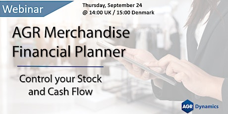 AGR Merchandise Financial Planner: Control your Stock and Cashflow tickets