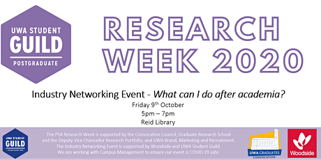 UWA PSA Research Week - Industry Networking Event tickets