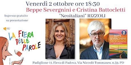 """Beppe Severgnini e Cristina Battocletti, """"Neoitaliani"""" Rizzoli biglietti"""