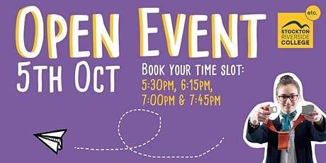 Stockton Riverside College Open Event - 5th October 2020! tickets