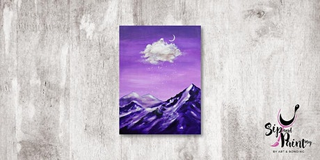 Sip & Paint MY @ Hubba Mont Kiara : Cloudy Mountain Peak tickets