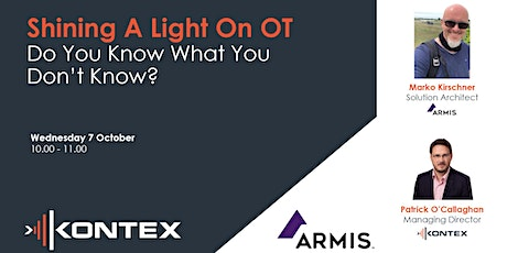 Shining a light on OT – Do you know what you don't know? Tickets