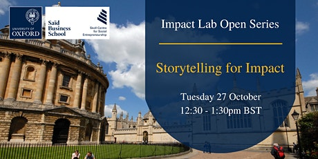Impact Lab Open Series: Storytelling for Impact tickets