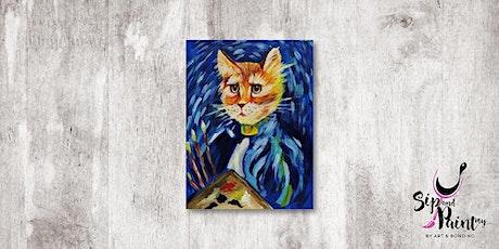 Sip & Paint MY @ Ampang :  Cat La Van Gogh tickets