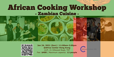 African Cooking Workshop - Zambian Cuisine- tickets