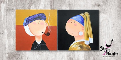 Sip & Paint MY @ Ampang :  Cute Little Van Gogh & Girl With Pearl Earring tickets