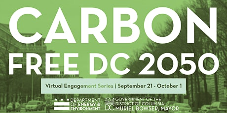 Carbon Free DC Virtual Engagement Series tickets