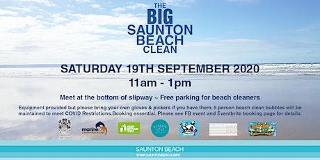 The Big Saunton  beach clean tickets