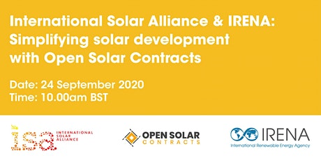 ISA-IRENA:  Simplifying solar development with Open Solar Contracts tickets