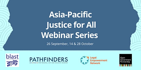 Asia-Pacific Justice for All Webinar Series tickets