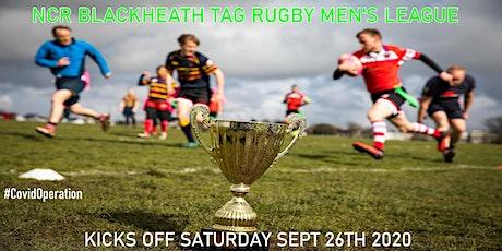 Saturdays NCR Blackheath Tag Rugby Men's League SE London Autumn 2020 tickets