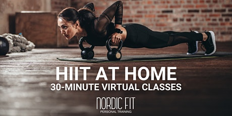 HIIT at Home: A 30-minute online HIIT class entradas