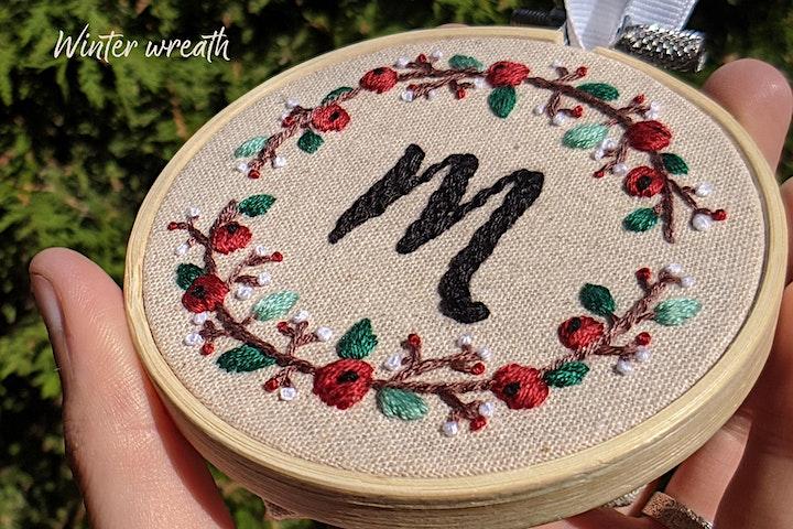 Custom Embroidery Ornament Workshop image