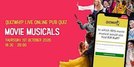 Movie Musicals - Free Live Online Pub Quiz from QuizWhip tickets