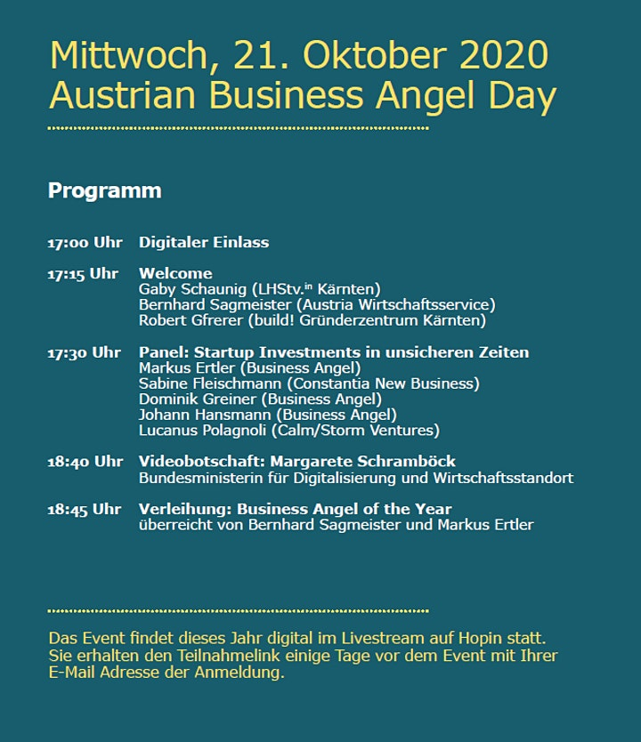 Austrian Business Angel Day 2020: Bild