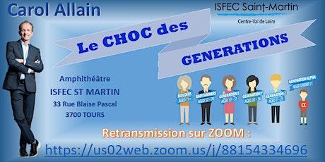 "CONFERENCE DEBAT ""LE CHOC DES GENERATIONS"" billets"