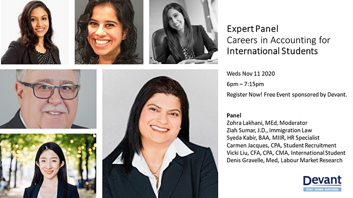 Expert Panel: Careers in Accounting for International Students image