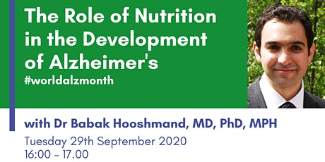 The Role of Nutrition in the Development of Alzheimer's disease tickets