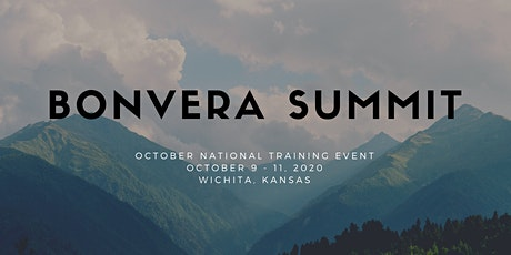 Bonvera October 2020 - National Training Event tickets