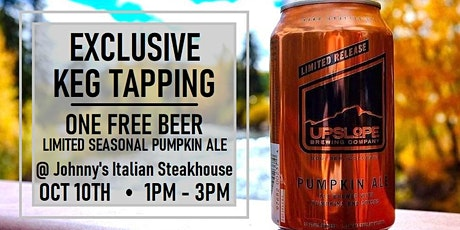 Keg Tapping with Upslope Brewing (Exclusive  Seasonal Pumpkin Ale) tickets