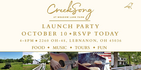 CreekSong Launch Party tickets