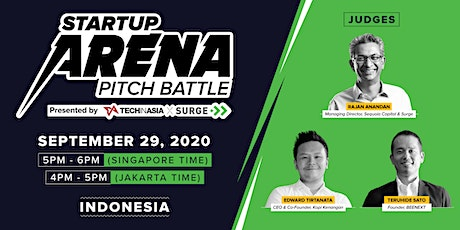 [Free] Indonesia - Startup Arena Pitch Battle Semifinals tickets