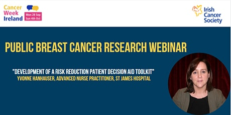 Webinar: Development of a Risk Reduction Patient Decision Aid Toolkit tickets