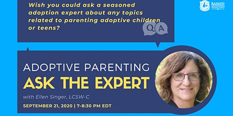 Adoptive Parenting  - Ask The Expert tickets