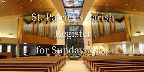 October 24/25 Sunday Mass Registrations tickets